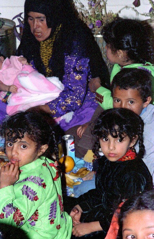 Goat Grab Party Wemon and Children Saudi Arabia